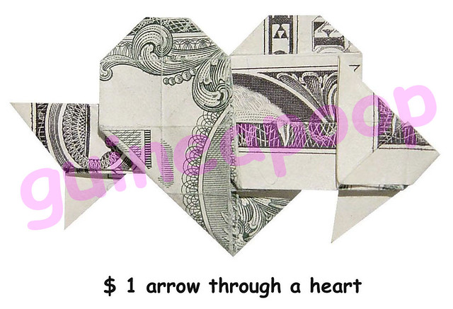 HEART AND ARROW ORIGAMI