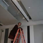 Jane Heuer - Wardrobe Supervisor, Writers Theatre's New Building's Ceremonial Beam-Signing.