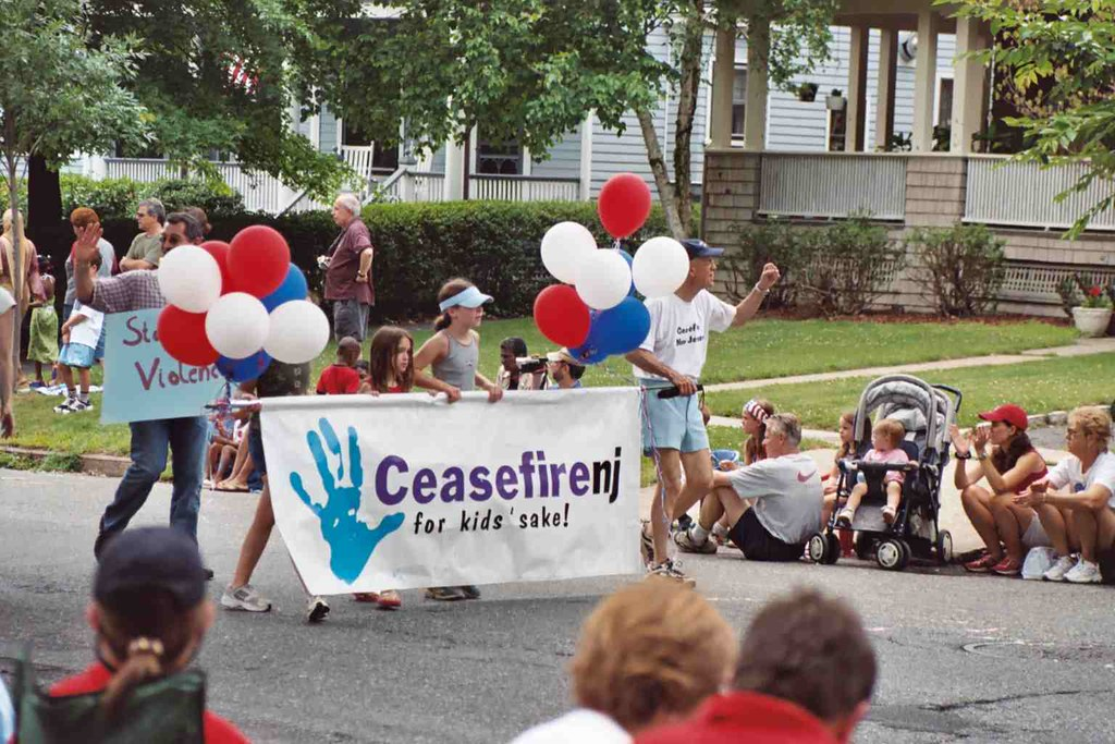 Photo of July 4 parade CeaseFireNJ