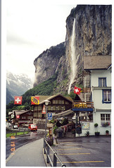 The town of Lauterbrunnen