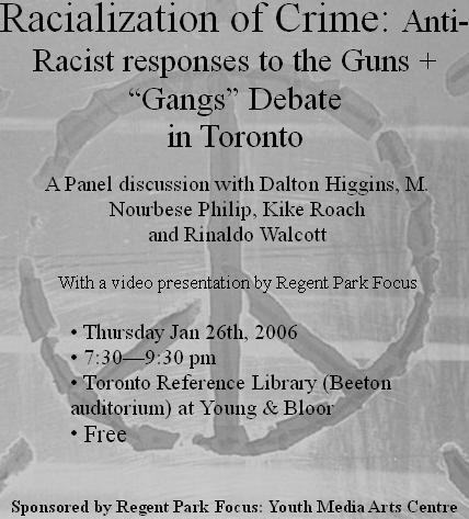 Racialization of Crime: Anti-Racist responses to the Guns +