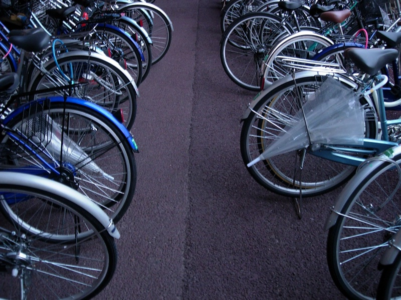 Bike parking at Minami Yono