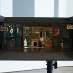 Set design model by Linda Buchanan at the first rehearsal for DEATH OF A STREETCAR NAMED VIRGINIA WOOLF: A PARODY at Writers Theatre