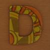 Cooper Hewitt magnetic letter D