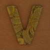 Cooper Hewitt magnetic letter V