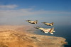 Over the dead sea F-16i F-16d F-15i xnir  Israel Air Force