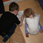 Ryan and I do some colouring<br/>11 Mar 2007