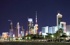 Kuwait City at night photo by hamad M