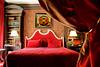 Red room at l'Hotel, Saint Germain des pres, Paris.