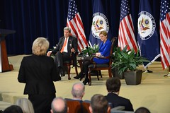 Secretary Kerry Fields Questions at a Town Hall at the State Department