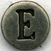Pewter Letter E