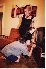 Mistress Adrienne learns me good. Richmond, VA. photo by dugglesworth