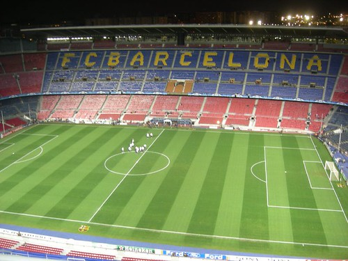 Nou Camp before the match