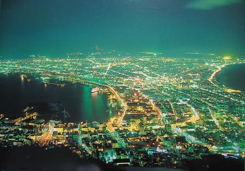 函館夜景明信片