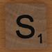 wooden tile letter S