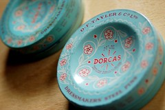 beautiful vintage pin tins photo by leslie.keating