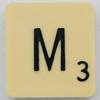 Scrabble Letter M