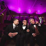 WT Production Manager Adam Friedland, WT Artistic Director Michael Halberstam and Steven A. Wolff - Principal, AMS Planning &  at the Grand Opening Gala for the new Writers Theatre, Feb 8, 2016.  Photo by Joe Mazza - brave lux.