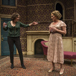 Karen Janes Woditsch (Martha) and Jennifer Engstrom (Blanche DuBois) in DEATH OF A STREETCAR NAMED VIRGINIA WOOLF: A PARODY at Writers Theatre. Photo by Michael Brosilow.