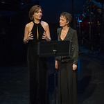 Shannon Cochran and Deanna Dunagan speak at Writers Theatre's Grand Opening Gala on February 8, 2016. Photo by Michael Brosilow.