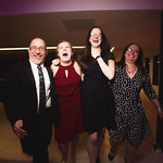 WT Stage Management Team David Castellanos, Mallory Bass, Elise Hausken and Rebecca Pechter  at the Grand Opening Gala for the new Writers Theatre, Feb 8, 2016.  Photo by Joe Mazza - brave lux.