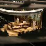 Set design model by Set Designer Collette Pollard at the first rehearsal for ARCADIA at Writers Theatre.