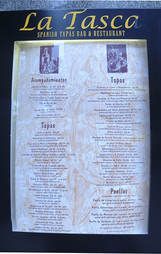 Spanish Restaurant Menu, 2005-06-12