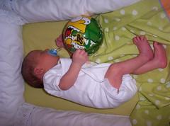 Con su primer balón