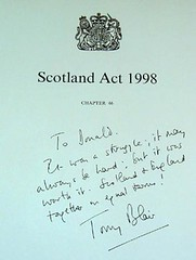 Scotland Act, Donal Dewars Copy.