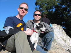 Me, David & Trixie, Indian Rock, Berkeley, CA