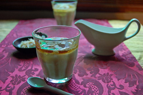 coconut custard with palm sugar syrup© by haalo