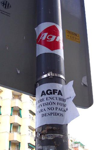 Protesta pel tancament d'Agfa