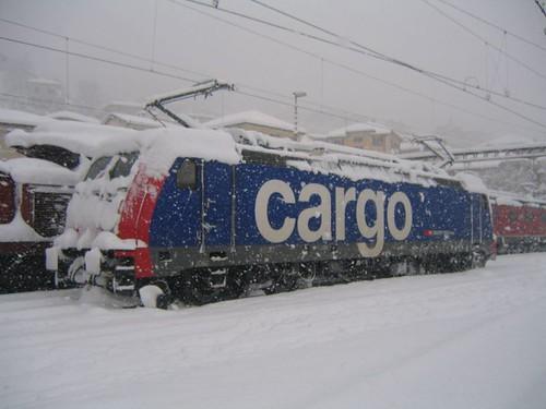 SBB Re 484 im Schnee