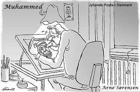 muhammad cartoonist sweating