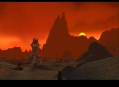 Sonnenuntergang in der Brennenden Steppe