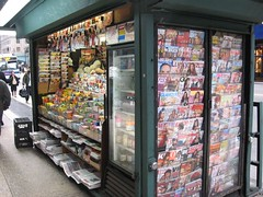 New York 1st day. magazine stands