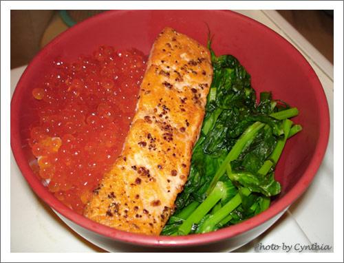 鮭魚卵+鮭魚飯