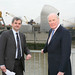 Huhne and Campbell at the Thames Barrier