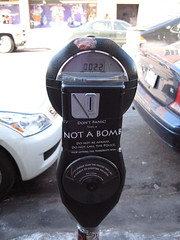 This parking meter is NOT A BOMB