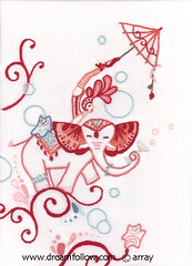 circus embroidery photo by merwing✿little dear