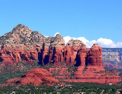 Sedona Arizona - Coffee Pot Rock from Airport Mesa photo by Al_HikesAZ