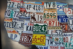 Old License plate Map photo by Whirling Phoenix