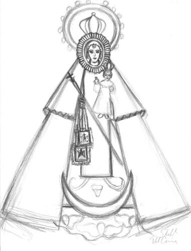 Virgen del Carmen, al estilo de la foto del diseño naval por macareno3