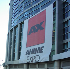 Anime Expo sign, without people