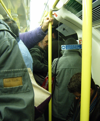 Packed Northern Line Train
