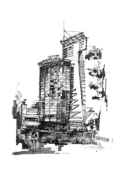 建筑手绘图(最新更新7楼)