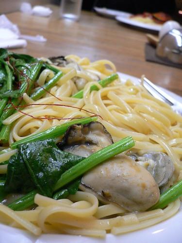 牡蠣入りスパゲティ