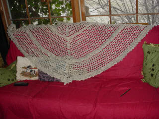 Crocheted Shawl from Shetland Hand Spun Yarn
