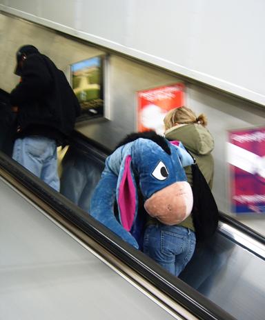 Eeyore on the Escalator