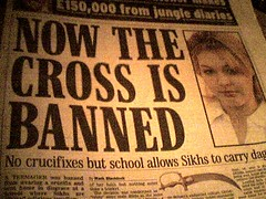 Now the cross is banned!